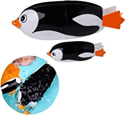 Goln 2Pcs Bathtub Toys, Electric Penguins Animal Diving Bath Swiming Toy Baby Kids Educational Toys Battery for Toddlers Babies Kids Boys Girls 1 2 3 Years Old
