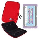 DURAGADGET Funda Rígida Roja Para Cefatronic - Tablet Clan Motion Pro - ¡Guarde Su Tablet De Una...