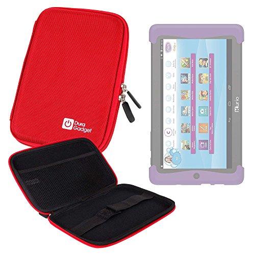 DURAGADGET Funda Rígida Roja Para Cefatronic - Tablet Clan Motion Pro - ¡Guarde Su Tablet De Una Manera Segura!