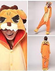 &G&g& 2016 Anaranjado lindo León Coral Fleece adultos Kigurumi Pijamas Pijamas Animal , xl-orange , xl-orange