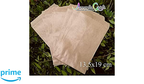 confettata 13,5x19cm sacchetti carta confetti avana bustine carta 50 pezzi SACCHETTI carta kraft confettata sacchettini kraft 13,5x19