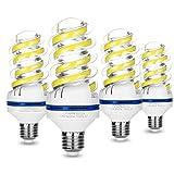 4er LED Lampen E27, 12W ersetzt 100W Halogenlampen, Kaltweiß 6000K, 12W Kaltweiss LED Leuchtmittel, 1080lm, 360° Abstrahlwinkel, Nicht Dimmbar Energiesparlampe, LED Birne