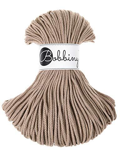 Bobbiny oeko-tex il cordoncino 5mm x 100m per macramè e per fare lavori manuali, nel sand