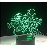 Anime 3d led licht acryl weihnachtsbeleuchtung geschenk usb touch spielzeug schlafzimmer wohnzimmer dekoration nachtlicht
