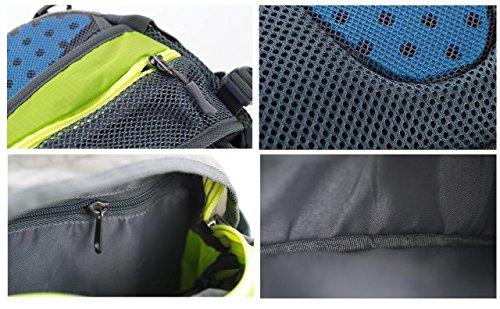 Tofern Multi Funzione Elegante borsa a tracolla borsa a mano 8L, Bambina, Oliva scuro , 8 l Blau