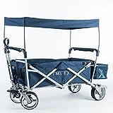 IMLEX Faltbarer Bollerwagen Strandwagen Kinderwagen Handwagen Freizeit IM4265 (Mitternachtblau)