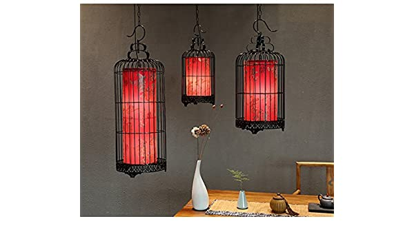 Lampadari Plafoniere Rosse : Shengye stile rustico plafoniera lampada a sospensione ferro da