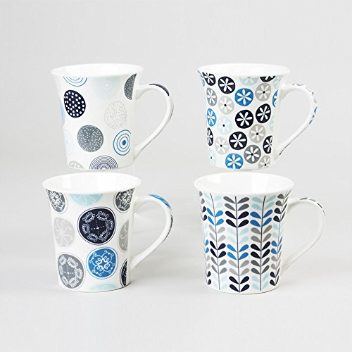 Mugs en porcelaine Jaipur bleu ,Bastide diffusion