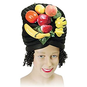 Fruit Bowl Black Hat & Hair Copacabana Carribean Fancy Dress (gorro/sombrero)