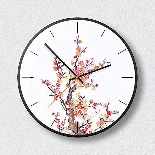 LYJZH personalisierte Kreative Wanduhr Uhr Mode einfache Wohnzimmer Küche Restaurant Schlafzimmer Wanduhr Wanduhr Modestudie Geheimnis schwarz - C 14 Zoll
