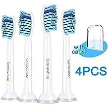 4 uds. (1x4) PHX6014 de cabezales para cepillos de dientes Carolina Meyer®. Philips Sonicare ProResults recambios. Totalmente compatibles con los siguientes modelos de cepillos de dientes eléctricos Philips: DiamondClean, FlexCare, FlexCare Platinum, FlexCare(+), HealthyWhite, 2 Series, EasyClean y PowerUp.