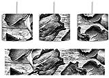 Monocrome, Trockene Rosen auf altem Holztisch inkl. Lampenfassung E27, Lampe mit Motivdruck, tolle Deckenlampe, Hängelampe, Pendelleuchte - Durchmesser 30cm - Dekoration mit Licht ideal für Wohnzimmer, Kinderzimmer, Schlafzimmer