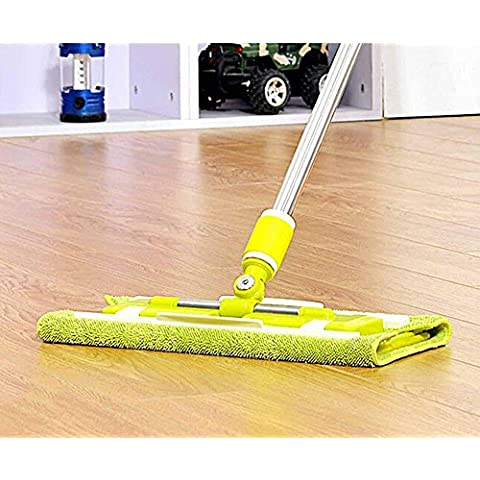 Solid wood flooring stainless steel rod spin MOP, clamping plate clamping towel to MOP the MOP MOP