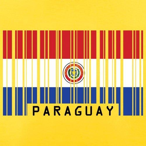 Paraguay / Republik Paraguay Barcode Flagge - Herren T-Shirt - 13 Farben Gelb