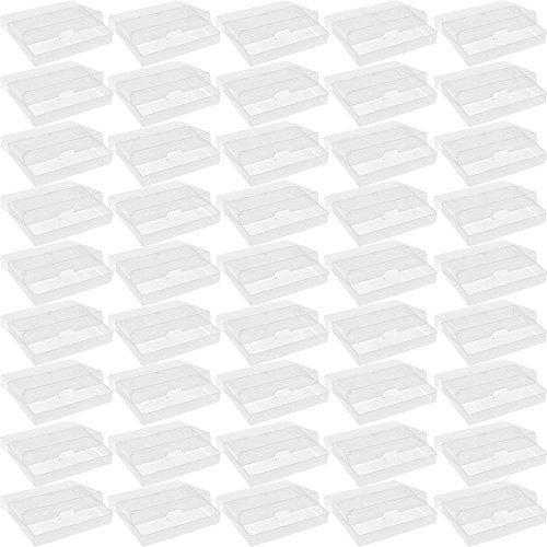 50x Nuovi ATC carte da gioco in plastica trasparente Storage Box Caso biglietti da visita scatole Casi