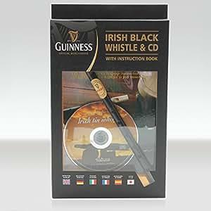 Guinness étain irlandais sifflet avec livre et CD d'instructions