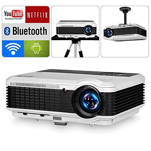 WiFi Beamer LCD Videoprojektor 3900 Lumen Bluetooth