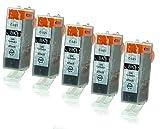 5 Druckerpatronen mit Chip und Füllstandsanzeige kompatibel zu Canon PGI-525 (Schwarz breit) passend für Canon Pixma IP-4850 IP-4950 IX-6550 MG-5140 MG-5150 MG-5240 MG-5250 MG-5300 MG-5340 MG-5350 MG-6150 MG-6200 MG-6250 MG-8150 MG-8200 MG-8240 MG-8250 MX-710 MX-715 MX-885 MX-890 MX-895