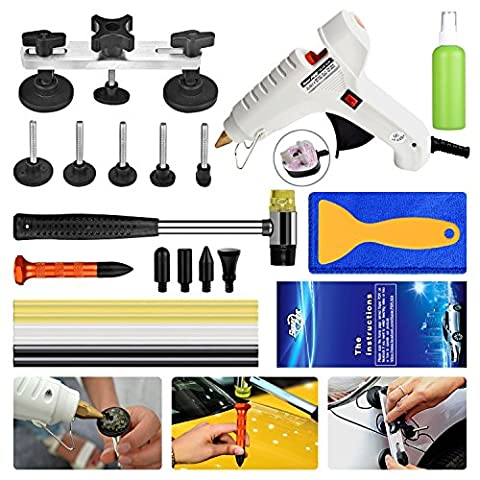 Super PDR 23 PCS Car Repair Kit Paintless Dent Repair Brige Puller Tools PDR Kits Glue Gun Sticks