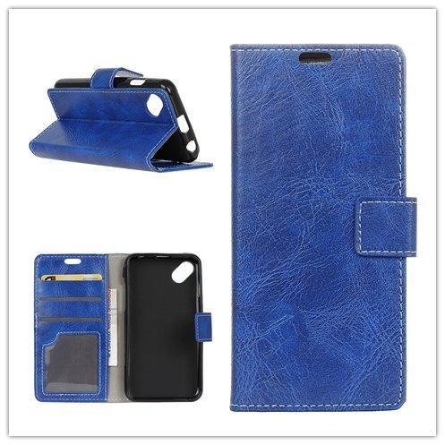 F&a® Flip Brieftasche Hülle für WIKO SUNNY 2 PLUS (Blau)