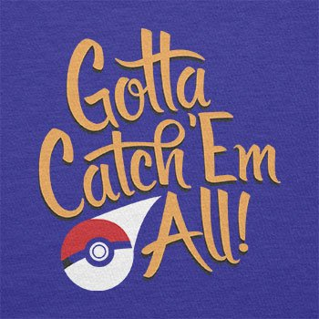 TEXLAB - Gotta catch 'Em all - Herren T-Shirt Marine