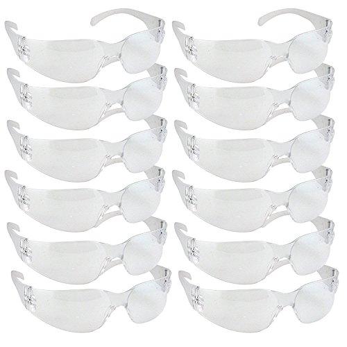 Pack 12 gafas protectoras seguridad resistentes impactos