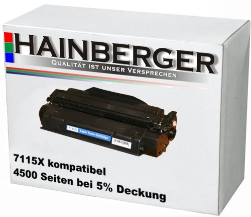 Hainberger Toner ersetzt C7115X für HP Laserjet 1200 1220 3300 3310 3320...