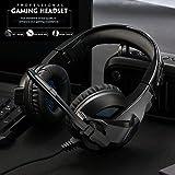 Gaming Headset für PS4 / Xbox One, Amicool Stereo - Bass - Surround/ Lärmminderung / Lautstärkeregler / über Kopfhörer Mit Mikrofon Ohr - Für Laptop - PC Mac Computer und Smartphone von Amicool