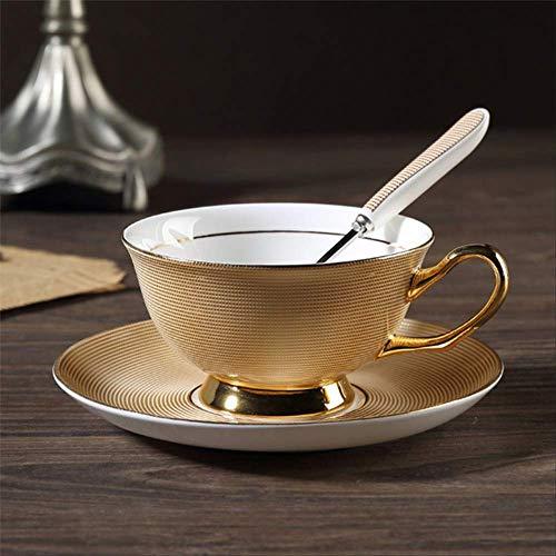 QYYDMKB Gold Bone China Kaffeeservice Britisches Porzellan Teeservice Keramiktopf Milchkännchen...