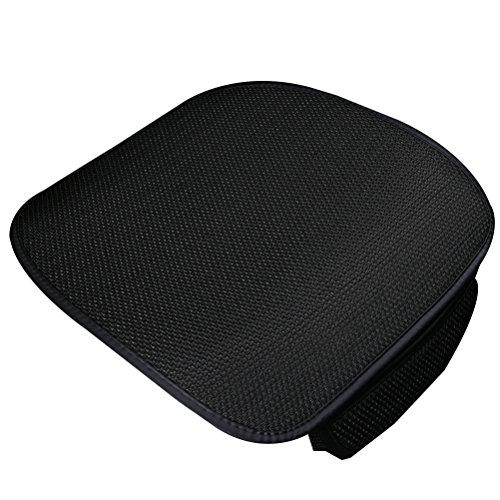 WINOMO Front Eis Silk Auto Sitzkissen Auto Innensitz Auflage Matte für Auto Versorgungsmaterialien (Schwarzes)