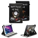 NAUC Tablet Schutzhülle für Medion Lifetab P8912 Hülle Tasche Standfunktion 360° Drehbar Cover Universal Case, Farben:Motiv 9