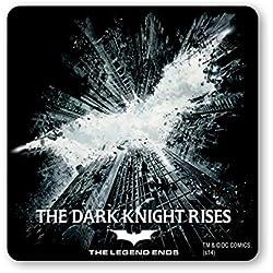 Logoshirt Posavasos Batman - El Caballero de Oscuro : La Leyenda Renace - Coaster DC Comics - Batman - The Dark Knight Rises - Superhéroe - Diseño Original con Licencia