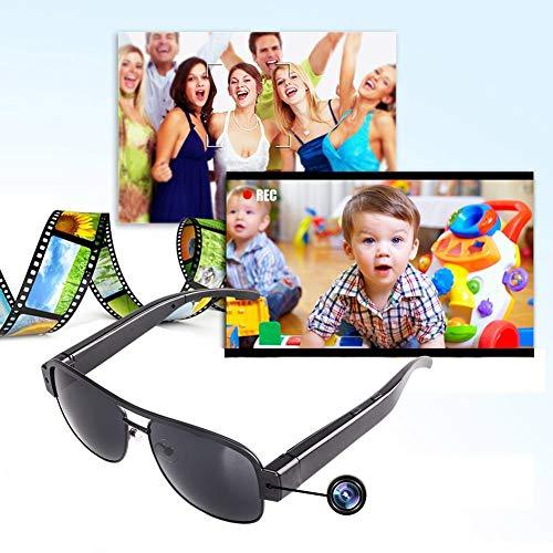 YMXLJJ 1080P HD Kamerabrille, 3 in 1, Echtzeit-Foto, Motion Recorder Video im Freien, Action Cam, Mode, Sonnenbrille, Humanized Design, tragbar, 8 GB