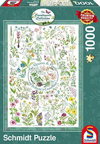 Schmidt Spiele Puzzle 59568 - Puzzle Countryside Art, 1000 Teile, Blumen und Pflanzen
