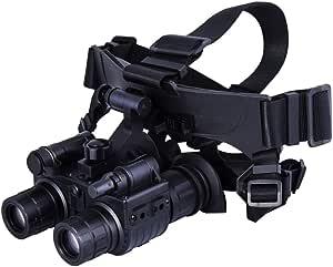 Mcjl Doppelröhrennachrichtenteleskop Niederlicht Digitales Infrarot Jagd Mit Kopf Montiert Nachtsichtgerät Großkaliber Für Die Wildtierjagd Sport Freizeit