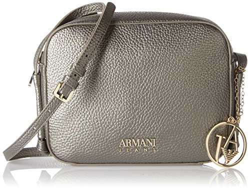 Armani - Borsa Tracolla, Borse Baguette Donna Argento (Platino)
