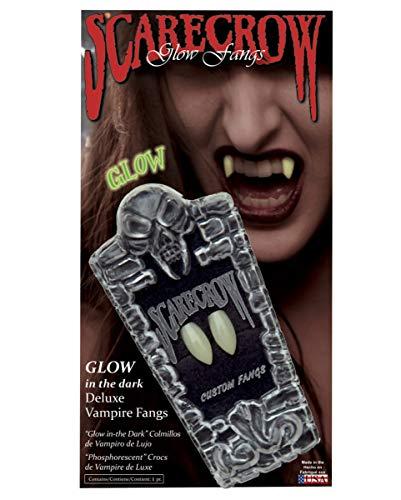 Horror-Shop UV Aktive Scarecrow Vampirzähne Regulär - Make-up Zubehör