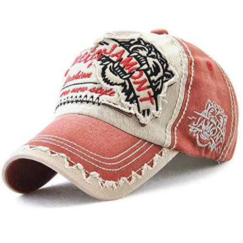 Tioamy Baseball Kappe Basecap Unisex einstellbare Retro Baseball Hut Freizeit Cap modischste Cotton Cap Schreiben Outdoor Hut für Männer und Frauen - Frauen Hut -