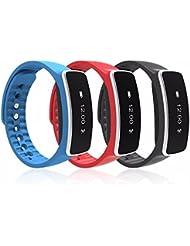 ETU24 Fitness Tracker, Sport SmartWatch I5 Plus, Bluetooth 4.0 Armband Intelligente Uhr OLED Display Schrittzähler, Aktivitätsarmband, Fitnessarmband, Tracker, wasserdichte IP67 Sportuhr mit Schlafanalyse, Schritte Zählen, Kalorienanalyse, SMS Anrufe, Reminder für Samsung, Iphone, HTC, Android IOS uvm. Smart Watch Direktversand aus Deutschland von ETU24