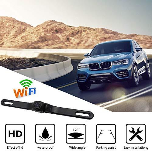 ACCDUER Backup-Kamera, Auto-Rückblig-Kamera Reversing Camera Automotive, License Plate Wireless Backup Camera, für Auto, Auto-Backup-Kamera-Lizenz-Platte (Garmin-backup-kamera)