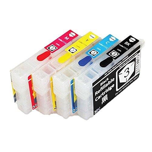 Caidi 4x T2991 29XL rechargeables et vides Cartouches d'encre Compatible pour Epson XP235 XP245 XP247 XP332 XP335 XP342 XP345 XP432 XP435 XP442 XP445