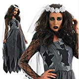 GHLLSAL Neue Halloween Party Rolle Spielen Hell Geist Braut Kleid Make-up Dance Show Kostüme Sexy Frauen Party Leistung Kleidung, Eine Größe