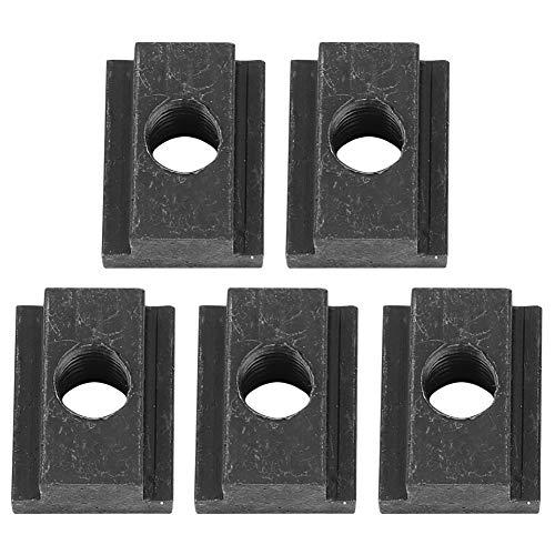 Gorgeri 5er Pack Eisen T-Nutmuttern, T Nutmutter für Truck Bed Deck Rails (schwarz) -