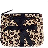 Vera Bradley Cosmetic Trio In Leopard(with Solid Color Lining)