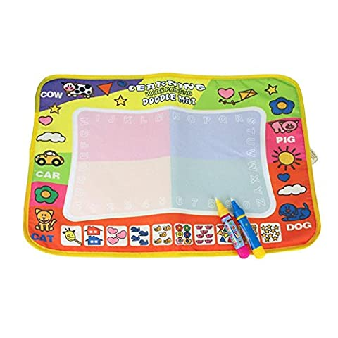 Tonwalk Water Drawing Painting Writing Mat Magic Pen Doodle Toy