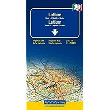 Latium (Rome, L'Aquila, Gaète) - Carte régionale Italie (échelle : 1/200 000)
