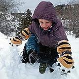 Handschuhe Kinder Skihandschuhe Fäustlinge Tiger Paw Geformte Winterhandschuhe für Kinderhandschuhe Skifahren Winter Warmhaltehandschuhe Skiausrüstung (Mehrfarbig)