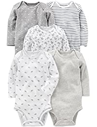 Simple Joys by Carter's Baby Langarm-Body, 5er-Pack