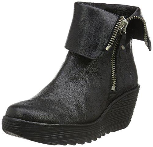 Fly London Women's YEX668FLY Ankle Boots, Black (Black), 5 UK 38 EU
