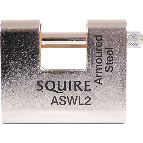Precise Engineered Squire ASWL 80mm Armoured Warehouse Padlock Keyed Alike  [Pack of 1] - w/3yr Rescu3® Warranty